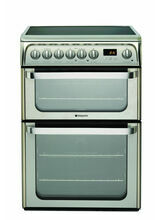 HOTPOINT HUE61XS 60cm Double Oven Ceramic Stainless Steel