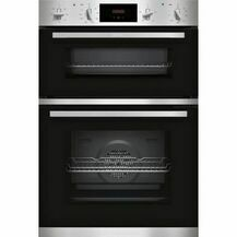 NEFF U1GCC0AN0B Electric Built In Double Oven Black & Steel