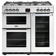 BELLING 444444075 Cookcentre 90cm Natural Gas Professional Stainless Steel