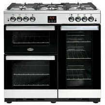 BELLING 444444076 Cookcentre 90cm Natural Gas Stainless Steel
