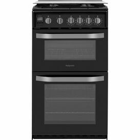 HOTPOINT HD5G00CCBK 50cm Gas Double Oven Black