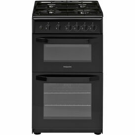 HOTPOINT HD5G00KCB 50cm Twin Cavity Gas Cooker Black