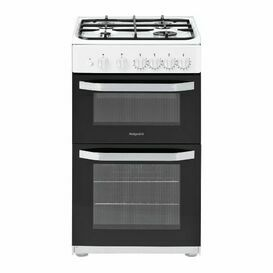 HOTPOINT HD5G00KCW 50cm Twin Cavity Gas Cooker White