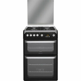 HOTPOINT HUG61K Ultima 60cm Gas Double Oven Black