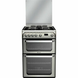 HOTPOINT HUG61X Ultima 60cm Gas Double Oven Stainless Steel