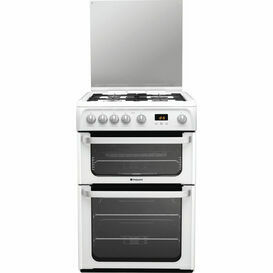 HOTPOINT HUG61P Ultima 60cm Gas Double Oven White