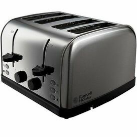RUSSELL HOBBS 18790 Futura Brushed Steel 4 Slice Toaster