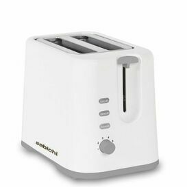 SABICHI 189097 White Gloss 2 Slice Toaster