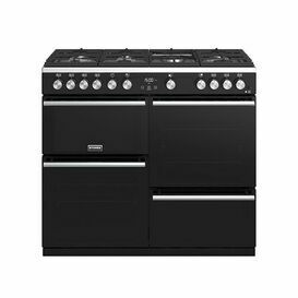STOVES 444410763 100cm Precision Deluxe Gas Range Cooker Black