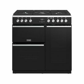 STOVES 444410761 90cm Precision Deluxe Gas Range Cooker Black