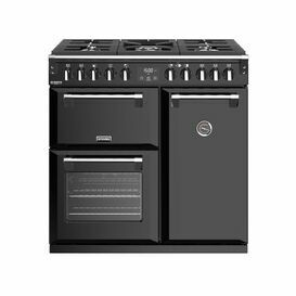 STOVES 444444897 Richmond 90cm Deluxe Dual Fuel Range Cooker BLK