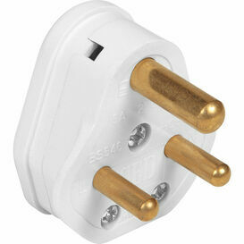 Plug top 15a Round 3 Pin White