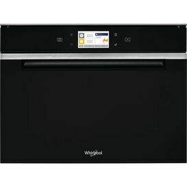 WHIRLPOOL W11IMW161UK 45cm Built In Fan Oven With Smart Steam Oven Black