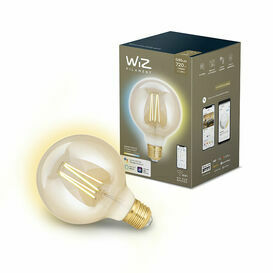 Wiz Smart Warm White or Daylight G95 ES Filament Dimmable Lamp