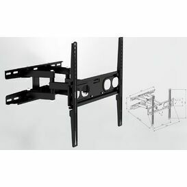 TTAP TTD404DA3 Slim 3 Arm Wall Bracket Mounts Up to 65\
