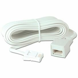 5m BT Plug to Socket Telephone Extension Lead