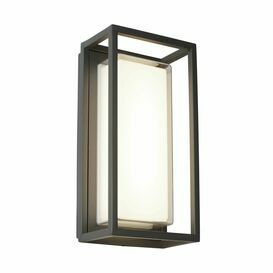 SEARCHLIGHT BEL AIRE IP44 Dark Grey Outdoor Wall Light