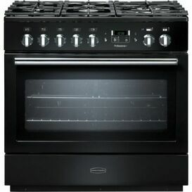 RANGEMASTER 91130 Professional Plus FX 90 Dual Fuel Natural Gas Black