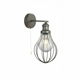SEARCHLIGHT Balloon Cage 1LT Wall Light, Pewter