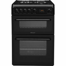 Hotpoint Newstyle HAG60K 60cm Gas Cooker Black