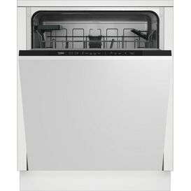 BEKO DIN15C20 60cm Fully Integrated Dishwasher Black Trim