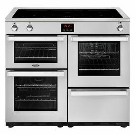 BELLING 444444090 Cookcentre 100cm Induction Professional Stainless/Steel