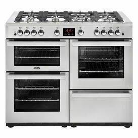 BELLING 444444099 CookCentre 110cm Gas Range Cooker Professional Stainless Steel