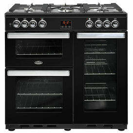 BELLING 444444071 Cookcentre 90cm Dual Fuel Black