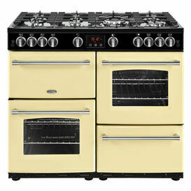 BELLING 444444141 Farmhouse 100cm Natural Gas Range Cooker Cream