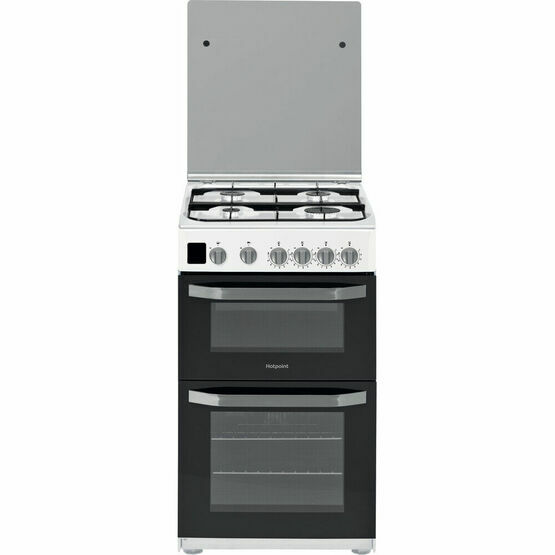 HOTPOINT HD5G00CCW 50cm Gas Double Oven White